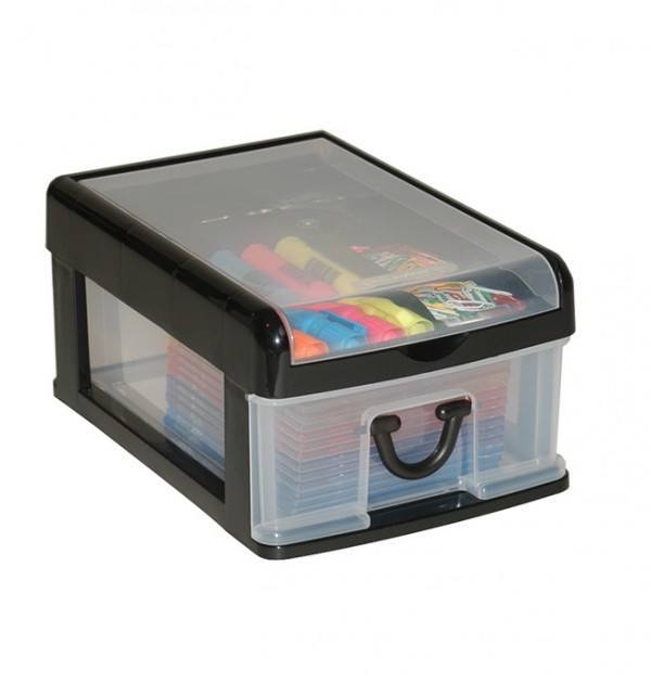 Clear Nic Nack 1 Drawer - Black