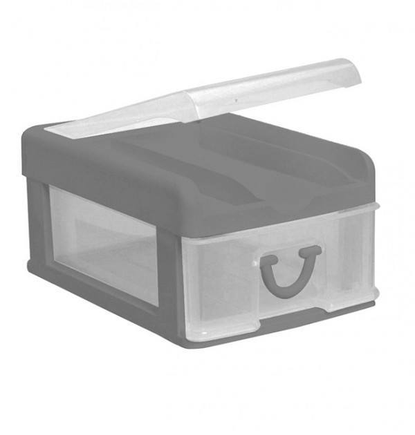 Clear Nic Nack 1 Drawer - Grey
