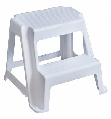 2 Step Stool - White