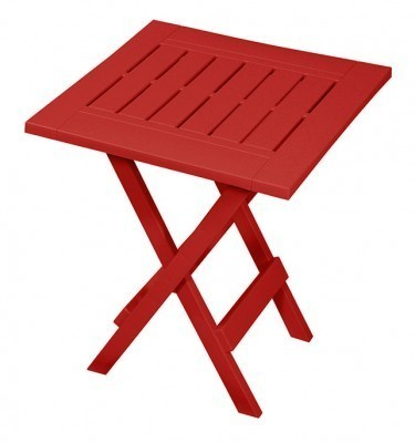 Folding Side Table Crimson Red